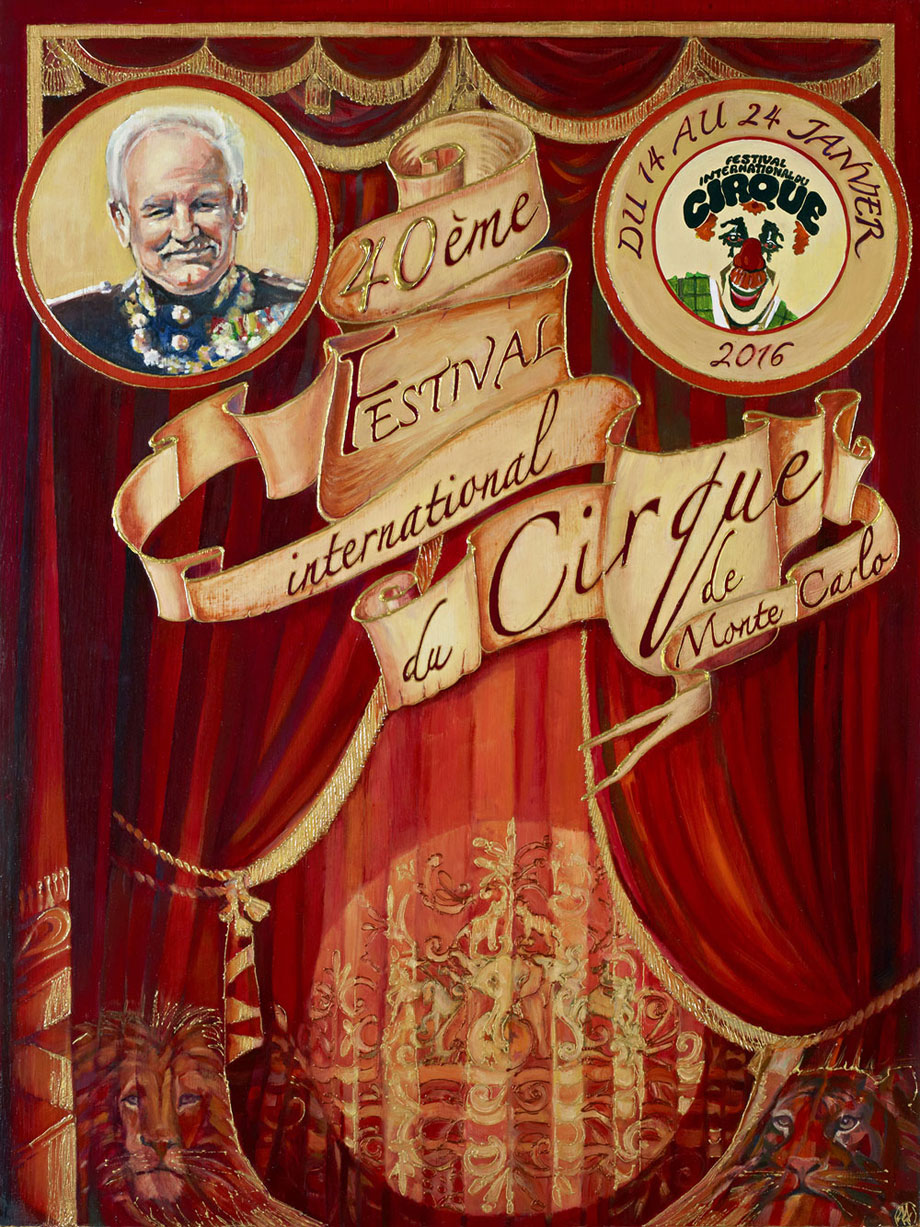 Poster of the 40th Monte-Carlo International Circus Festival 2016